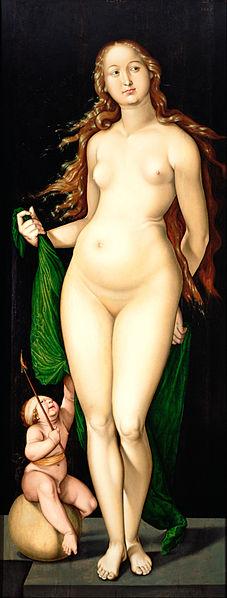 Hans Baldung 'Venus y amor', óleo en panel. Kröller-Müller Museum, Holanda. Google Art Project. Wikimedia Commons, 3 octubre 2012.